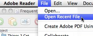 Open Recent File