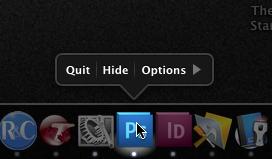 minimal Dock menu