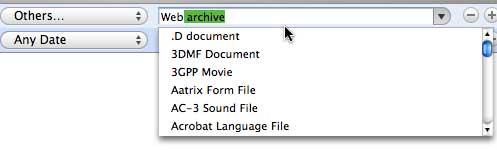 'Other' menu in Smart Folder