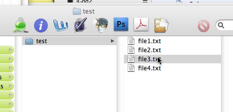 selected file in BG
