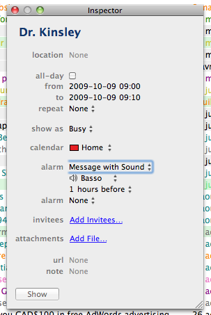 iCal Inspector halo
