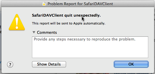 safariDAVclient-crash