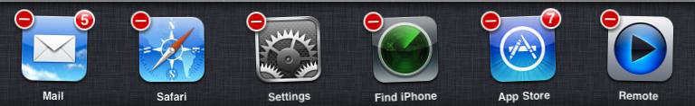 iOS 4 task bar - remove