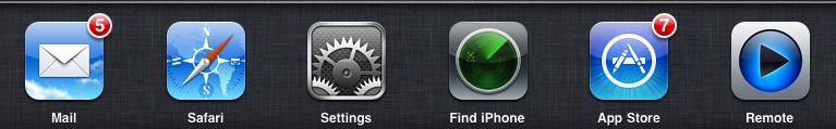 iOS 4 task bar