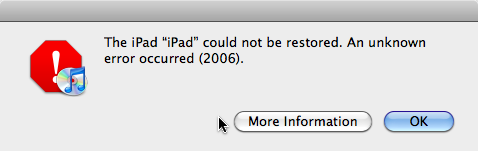 Can't restore