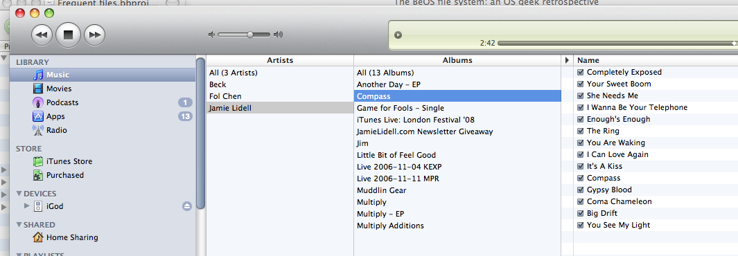 iTunes set-up