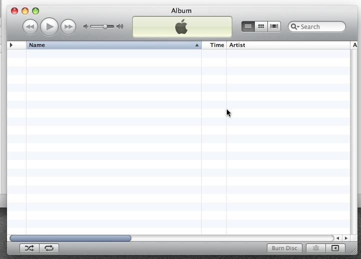 Empty playlist