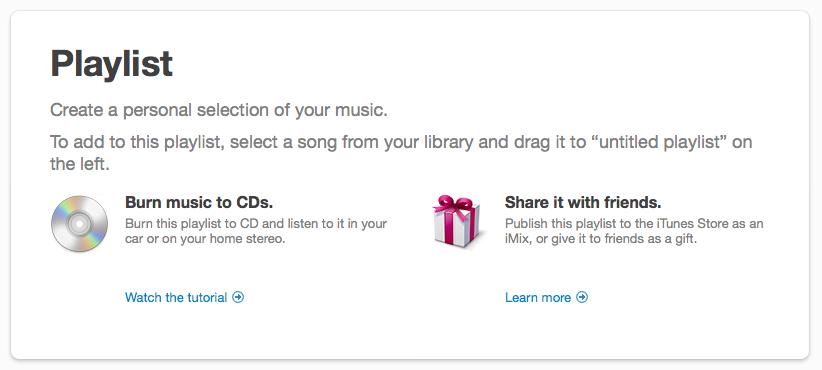 iTunes 9 Playlist