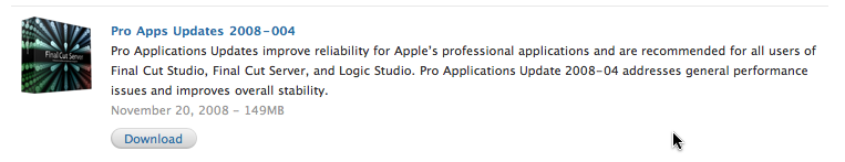 Pro Apps Updates 2008-004