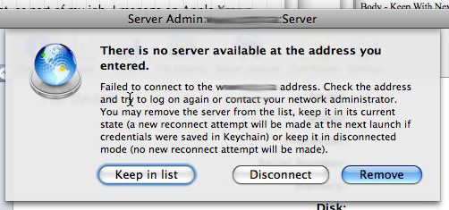 No server available