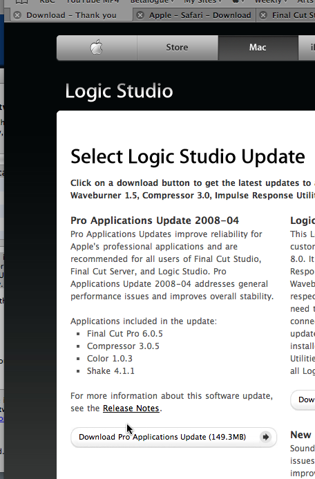 Logic Studio updates