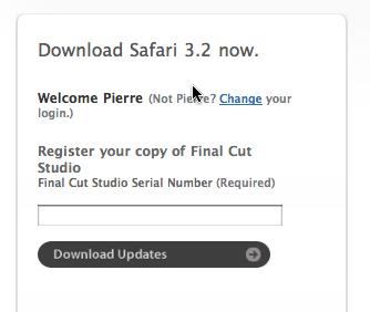 Safari confused about Final Cut Studio