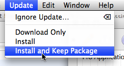 Install and Keep Package