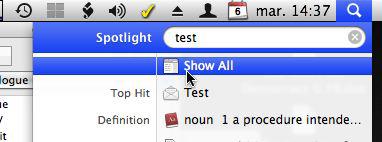 Spotlight - Show All option