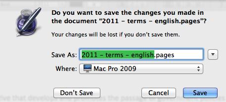 Compact Save As dialog