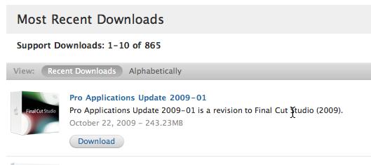 Software Update online