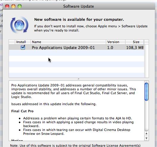 Pro Applications update