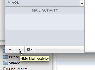 Mail Activity pane