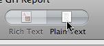 Plain Text button