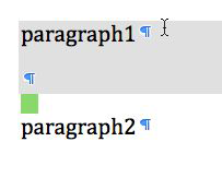Shaded selection in Word 2008