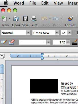 Word for Windows document in Word 2008
