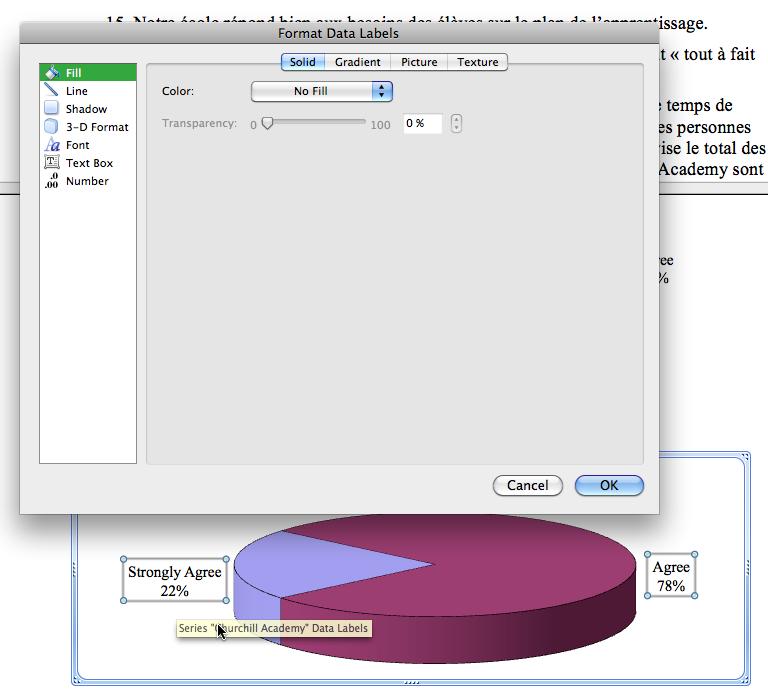 Format dialog box