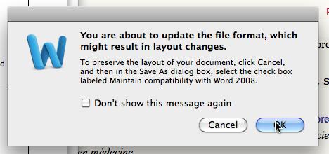 Change file format
