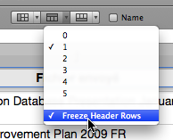 Freeze Header Rows