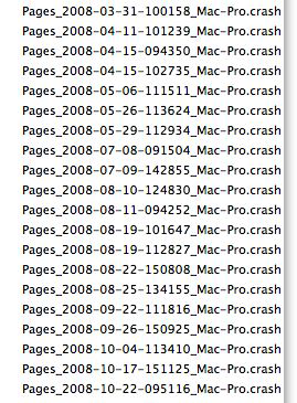 Pages Crashes