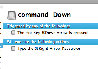command-Down