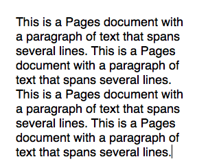 text in Pages