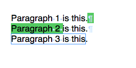 Paragraphs with bookmark