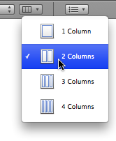 Columns toolbar button