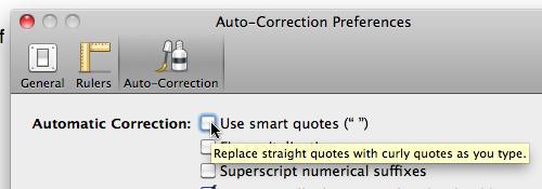 Smart Quotes pref