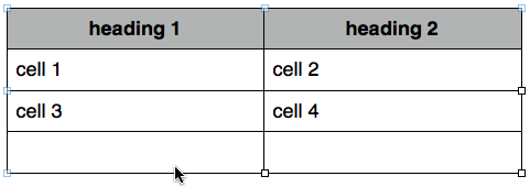 Table in Pages