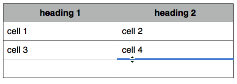 cell 4 border selected