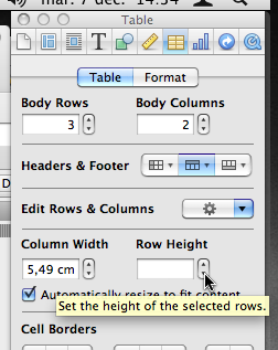 Click to reduce row height