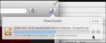 Downloads window