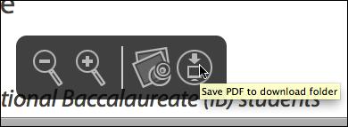 Save PDF button