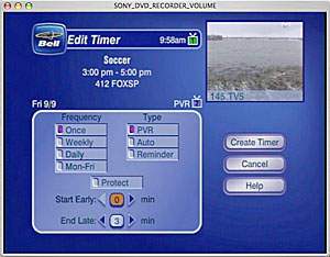 PVR timer - Start Early setting